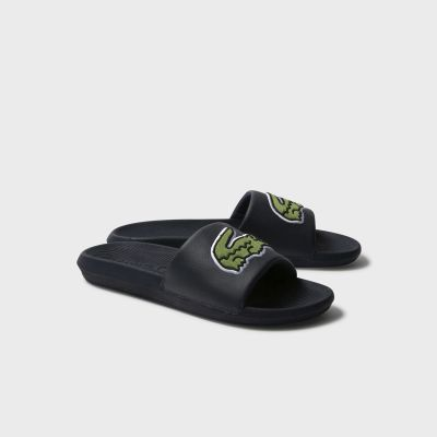 Шлепанцы Lacoste Croco Slide 319 4 US CMA BLK/GRN Synthetic