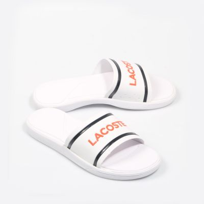 Шлепанцы Lacoste L.30 Slide 218 1 CAW White/Navy/Pink Synthetic