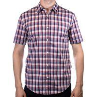 Рубашка Hugo Boss фиолетовая клетка codhr8