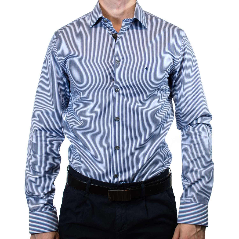 Рубашка Calvin Klein (крупная синяя полоска) codhr12