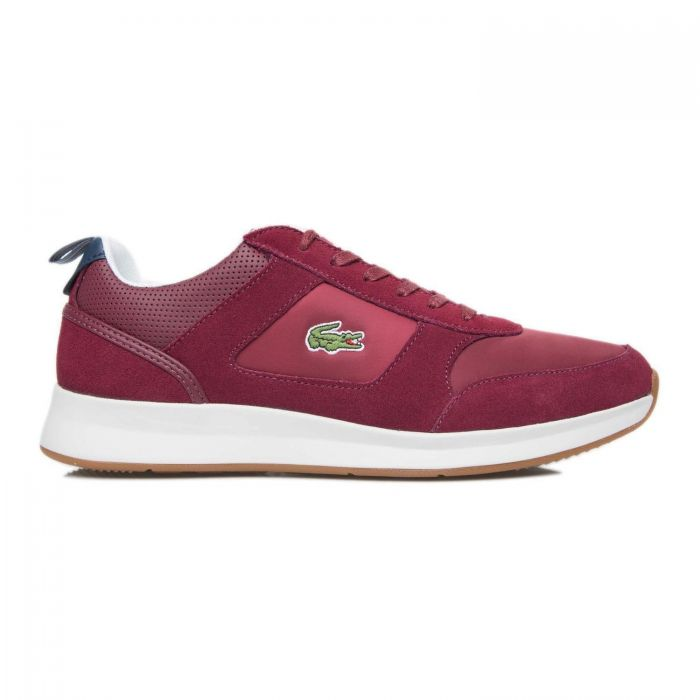 Кроссовки Lacoste JOGGEUR 418 1 SPM Suede/Textile/Synthetic DK Red/Nvy