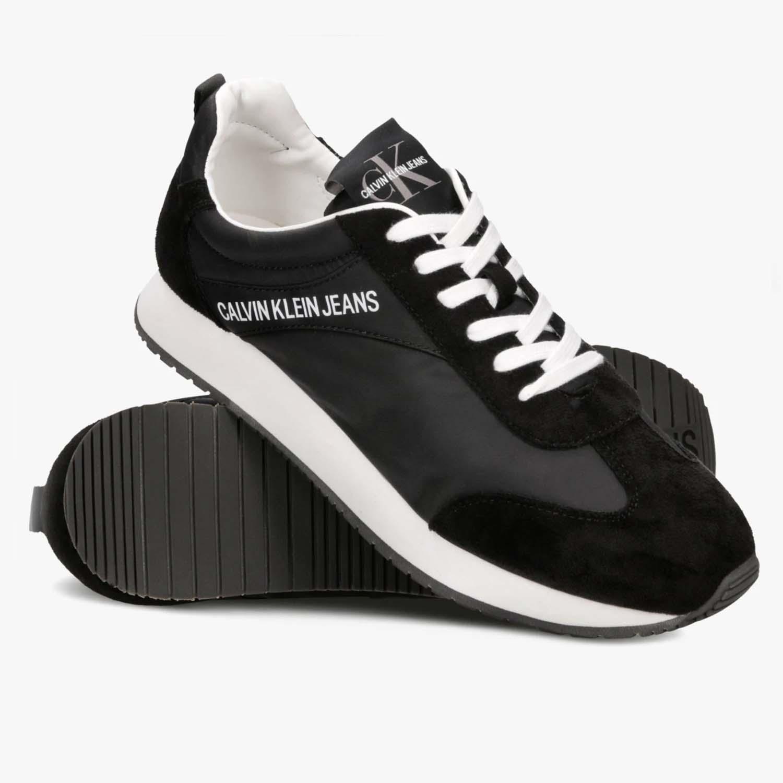 Мужские Кроссовки Calvin Klein Jerrold Nylon/Suede Black