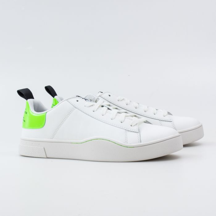 Кеды Diesel S-Clever Low Lace White/Green Fluo