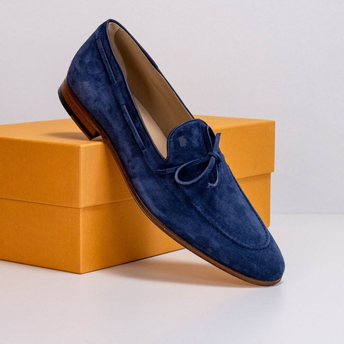 Лоферы Tod's Mocassino Laccetto Cuoio 86A BYE Blu Navy