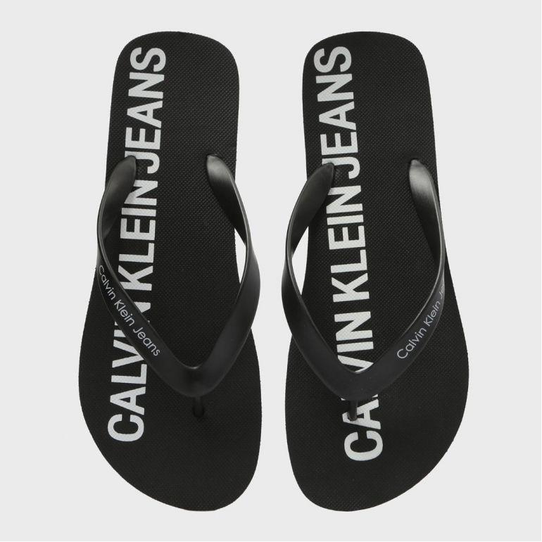 Мужские Вьетнамки Calvin Klein Errol Jelly Black.