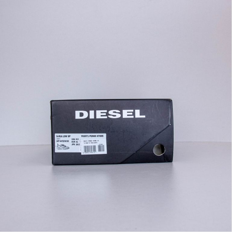 Мужские Кеды Diesel S-Rua Low SP Dirty White/Star White.